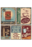 Vintage Coffee Posters And Metal Signs Photo