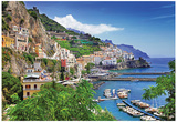 Travel In Italy Series - View Of Beautiful Amalfi Posters
