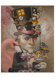 Mad Hatter Print by Leslie Ditto