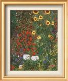 Farm Garden with Sunflowers, c.1912 Prints by Gustav Klimt