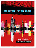 New York, USA Aer Lingus Irish Air Lines - Manhattan Skyline Plakat