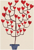 Heart Tree in Pot Affiches