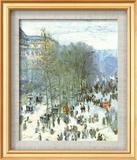 Boulevard des Capucines a Parigi Stampe di Claude Monet