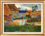 Farm At Pouldu Prints by Paul Gauguin