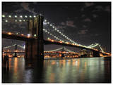Brooklyn Bridge at Night (color) Prints by Phil Maier