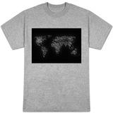 World Map City Lights T-Shirt