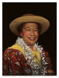 Portrait of Hilo Hattie - Native Hawaiian singer, hula dancer, actress and comedienne Prints by Benny (Benji) Whittle