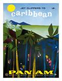 Jet Clippers to Caribbean - Pan American World Airways Wydruk giclee autor Aaron Fine
