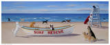 Surf Rescue Poster by Carol Saxe