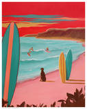 Ditch Plains Surf Prints by Carol Saxe
