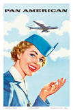 Pan Am American Stewardess Prints