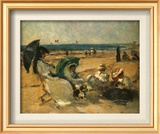 Groupe Sur La Plage Prints by Fernard Maillaud