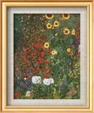 Gustav Klimt - Çiftlik Bahçesinde Günebakanlar c.1912 (Farm Garden with Sunflowers, c.1912) - Sanat