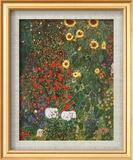 Giardino di campagna con girasoli, ca. 1912 Stampa di Gustav Klimt