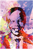 Nelson Mandela Watercolor Photo
