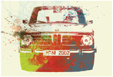 Bmw 2002 Front Watercolor 2 Affiches