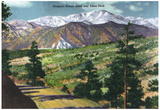 Colorado, Panoramic View of Rampart Range Road and Pikes Peak Photo