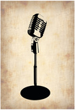 Vintage Microphone Photo by  NaxArt