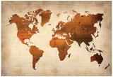 World Map 7 Plakater av  NaxArt