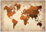 World Map 7 Plakater
