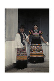 Portrait of a Young Bridal Couple Dressed in Typical Bridal Costume Photographic Print by Hans Hildenbrand