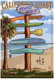 Pismo Beach, California - Destination Sign Photo