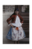 Portrait of a Young Serbian-Hungarian Peasant in a Folk Costume Photographic Print by Hans Hildenbrand