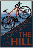 Den Berg bezwingen - Mountainbike, Englisch Poster