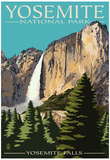 Yosemite Falls - Yosemite National Park, California Kunstdrucke von  Lantern Press