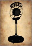 Vintage Radio Microphone Plakater af NaxArt