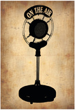 Vintage Radio Microphone Prints by  NaxArt