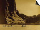 Canon De Chelly, Arizona, Navaho (Trail of Tears) Posters by Edward S. Curtis