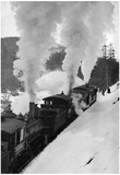 View of the AN Railroad Train - Seward, AK Print
