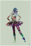Ballerina Watercolor Print by  NaxArt