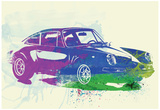 Porsche 911 Watercolor Photo