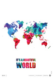 It's a Beautifull World Poster Affiches