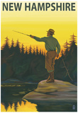 New Hampshire - Fisherman Posters