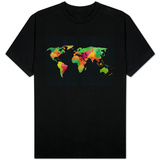 World Map Watercolor T-Shirt