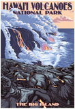 The Big Island, Hawaii - Lava Flow Scene Prints
