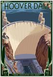 Hoover Dam Aerial Print