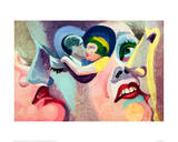The Lovers of Paris: The Kiss, 1929 Giclee Print by Robert Delaunay