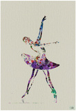 Ballerina Watercolor 4 Poster