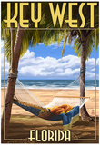 Key West, Florida - Hammock Scene Posters