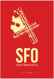 Sfo San Francisco Poster 2 Poster by  NaxArt