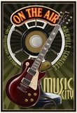 Nashville, Tennessee - Guitar and Microphone Poster