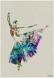 Ballerina, akvaral 5 Posters af NaxArt