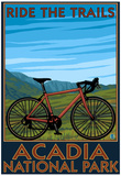 Acadia National Park, Maine - Bicycle Scene Print