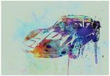 Corvette Watercolor Poster