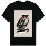 Smart Nerdy Owl T-Shirt