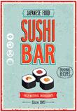 Vintage Sushi Bar Poster Affiches